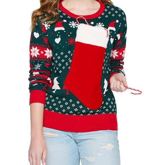 2a3932c98955 jcpenney Sweaters | Ugly Sweater That Holds Wine Bottle In Stocking ...